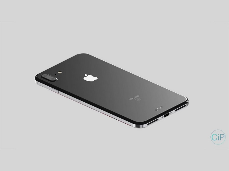 iphone x concept stainless steel and glass. Black Bedroom Furniture Sets. Home Design Ideas